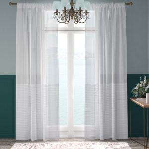 XPOSE ® Záclona ARTEMIS - bílá 150x250 cm - Vánoční - RodinneBaleni