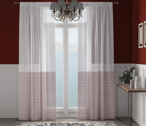 XPOSE ® Záclona ARTEMIS - bordó 150x250 cm - Vánoční - RodinneBaleni