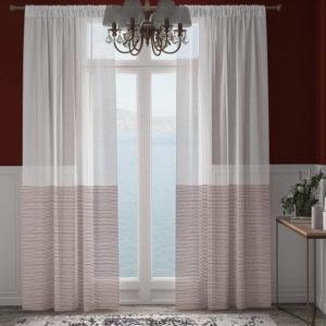 XPOSE ® Záclona ARTEMIS - bordó 150x160 cm - Vánoční - RodinneBaleni