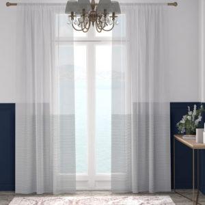 XPOSE ® Záclona ARTEMIS - šedá 150x160 cm - Vánoční - RodinneBaleni