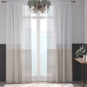 XPOSE ® Záclona ARTEMIS - světle hnědá 150x180 cm - Vánoční - RodinneBaleni