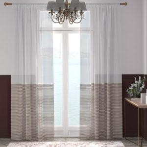 XPOSE ® Záclona ARTEMIS - tmavě hnědá 150x250 cm - Vánoční - RodinneBaleni