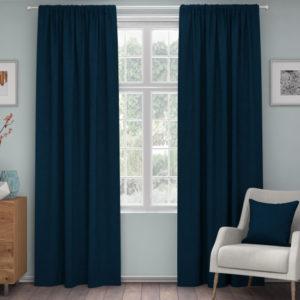 XPOSE ® Zatemňovací závěs ZEUS - tmavě modrá 150x180 cm - Vánoční - RodinneBaleni