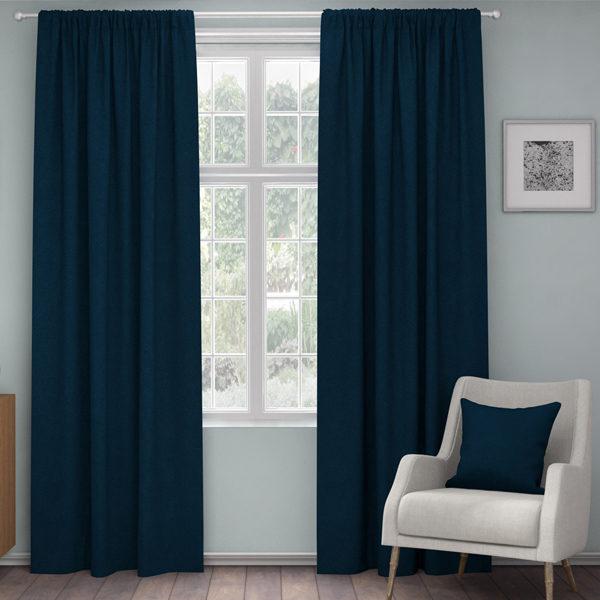 XPOSE ® Zatemňovací závěs ZEUS - tmavě modrá 150x160 cm - Vánoční - RodinneBaleni