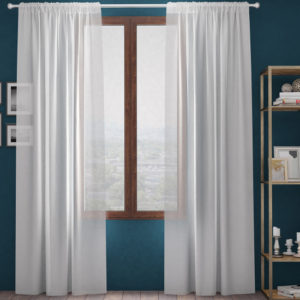 XPOSE ® Záclona GAIA - bílá 150x160 cm - Vánoční - RodinneBaleni