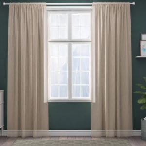 XPOSE ® Záclona IRIS - béžová 150x180 cm - Vánoční - RodinneBaleni