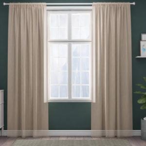 XPOSE ® Záclona IRIS - béžová 150x250 cm - Vánoční - RodinneBaleni