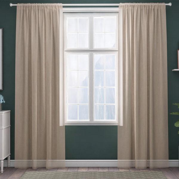 XPOSE ® Záclona IRIS - béžová 150x160 cm - Vánoční - RodinneBaleni