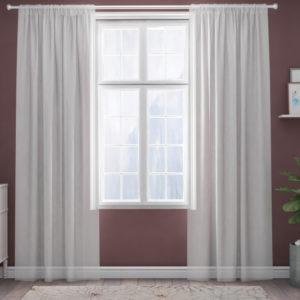 XPOSE ® Záclona IRIS - bílá 150x250 cm - Vánoční - RodinneBaleni
