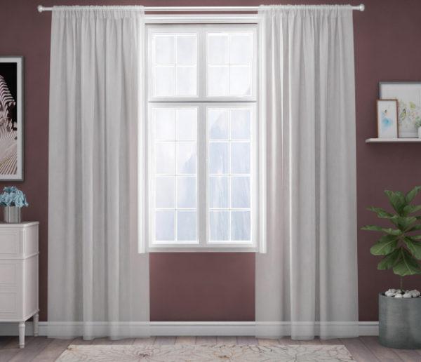 XPOSE ® Záclona IRIS - bílá 150x160 cm - Vánoční - RodinneBaleni