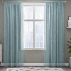XPOSE ® Záclona IRIS - modrá 150x180 cm - Vánoční - RodinneBaleni