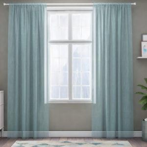 XPOSE ® Záclona IRIS - modrá 150x160 cm - Vánoční - RodinneBaleni