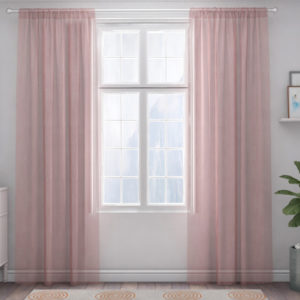 XPOSE ® Záclona IRIS - růžová 150x180 cm - Vánoční - RodinneBaleni