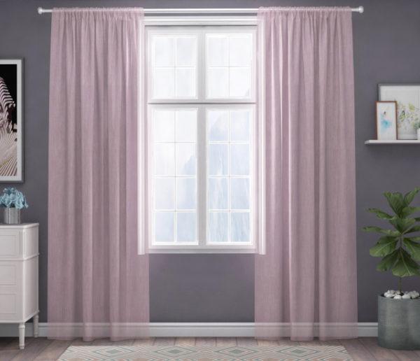 XPOSE ® Záclona IRIS - světle růžová 150x250 cm - Vánoční - RodinneBaleni