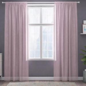 XPOSE ® Záclona IRIS - světle růžová 150x160 cm - Vánoční - RodinneBaleni