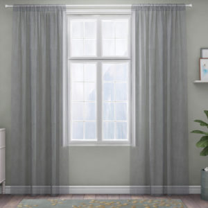 XPOSE ® Záclona IRIS - světle šedá 150x180 cm - Vánoční - RodinneBaleni