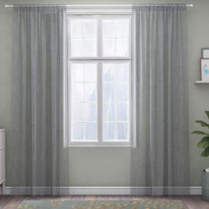 XPOSE ® Záclona IRIS - světle šedá 150x160 cm - Vánoční - RodinneBaleni