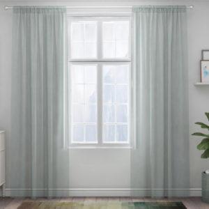 XPOSE ® Záclona IRIS - světle zelená 150x250 cm - Vánoční - RodinneBaleni