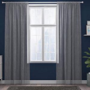 XPOSE ® Záclona IRIS - tmavě šedá 150x180 cm - Vánoční - RodinneBaleni