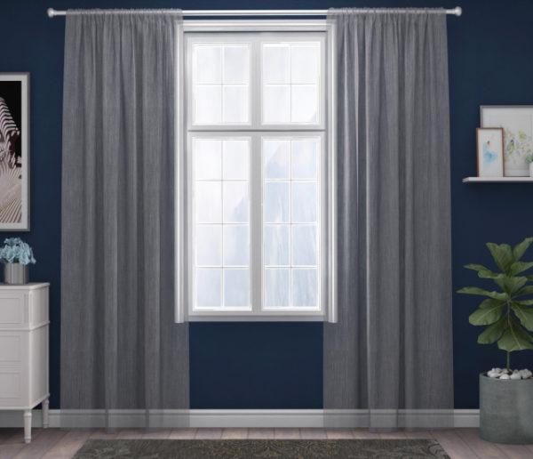 XPOSE ® Záclona IRIS - tmavě šedá 150x160 cm - Vánoční - RodinneBaleni