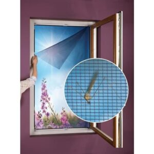 Síť do okna proti hmyzu a pylu 130 x 150 cm    Závěsy